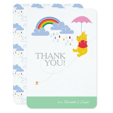 Winnie the Pooh | Girl Baby Shower Thank You Card