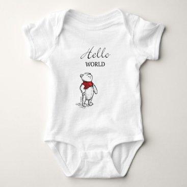Winnie the Pooh | Hello World Quote Baby Bodysuit