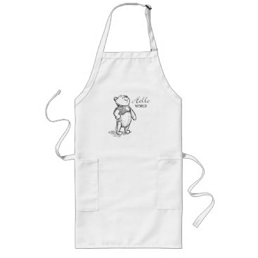 Winnie the Pooh | Hello World Quote Long Apron