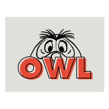 Winnie the Pooh | Owl Peek-A-Boo Postcard