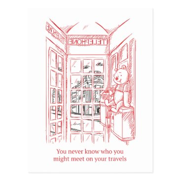 Winnie the Pooh | Travel Quote Postcard