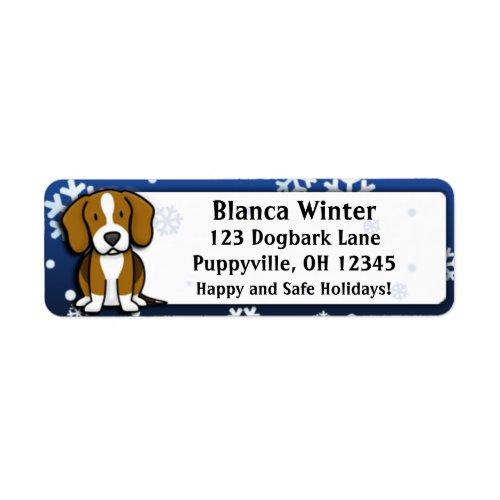 Winter Cartoon Beagle Return Address Labels