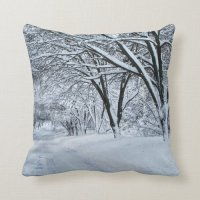 Winter Comfort Throw Pillow