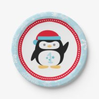 Penguin Paper Plates And Napkins & Rocking Paper Plate