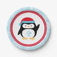 Winter ONEderland Birthday | Penguin 7 Inch Paper Plate ...