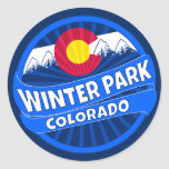 Winter Park Colorado mountain burst sticker
