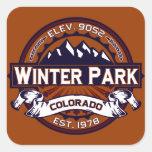 Winter Park Logo Vibrant Square Sticker