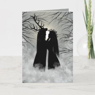 Winter Solstice God and Goddess card