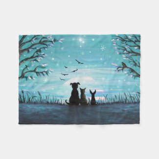 Winter Sunset Fleece Blanket