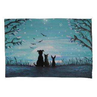 Winter Sunset Pillow Case