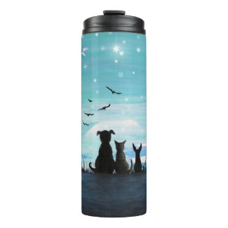Winter Sunset Thermal Tumbler