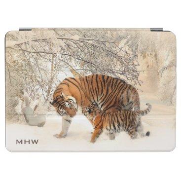 Winter Tigers custom monogram device covers