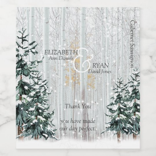 winter wedding white birch