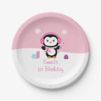 Winter Wonderland Penguin Paper Plates 7 Inch Paper Plate