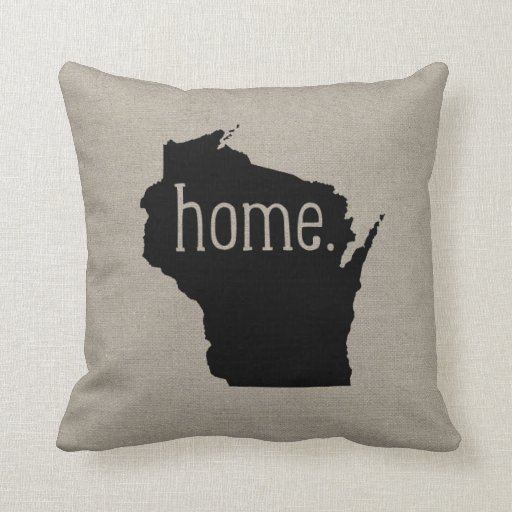 Wisconsin Home State Throw Pillow Zazzle