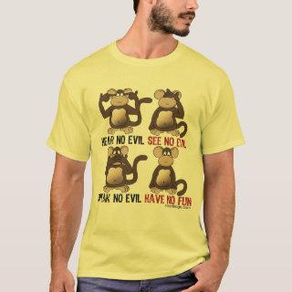 Wise Monkeys Humour T-Shirt