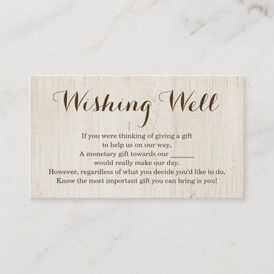 Wishing Well For Wedding Invitation Rustic