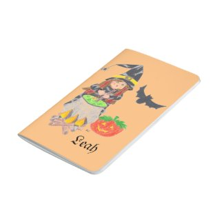 Witch 1 personalized orange pocket journal