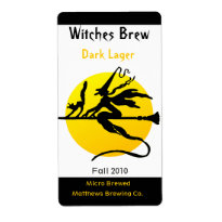 Witch and Yellow Moon Bottle Labels