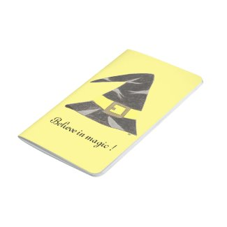 Wizard's hat yellow custom pocket journal