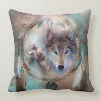 Wolf - Dreams Of Peace Art Decorator Pillow | Zazzle