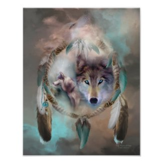 Wolf - Dreams Of Peace Art Poster/Print