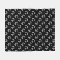 Wolf Paw Fleece Blanket
