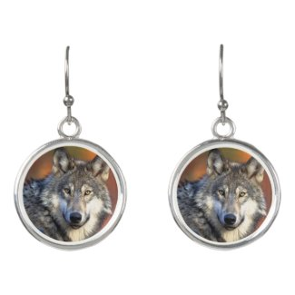 Wolf Photograph Earrings
