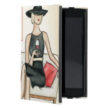 Woman Drinking Red Wine Case For iPad Mini