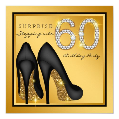 Womans Surprise 60th Birthday Party Card