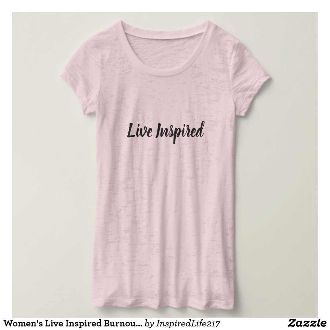 Women's Live Inspired Burnout Tee