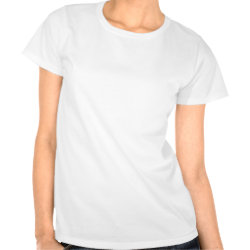 Women's White Plain Logo Shirt