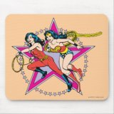Wonder Woman Donna Troy Star Background Mousepad