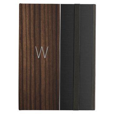 Wood and Metallic Look Monogrammed iPad Air Case