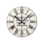 Wood bath round clock