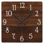 Wood Print Clock