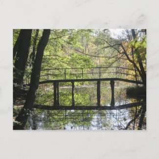 Wooden Bridge Postcard postcard