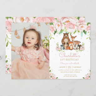 christening 1st birthday invitations