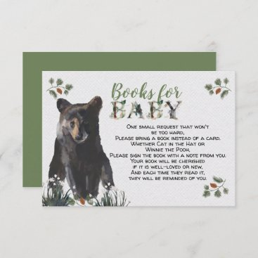 Woodland Baby Bear Books for Baby Enclosure Card