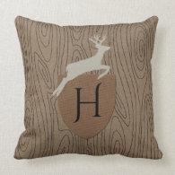 Woodland Rhapsody Monogram Throw Pillow