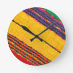 Wool texture round clock