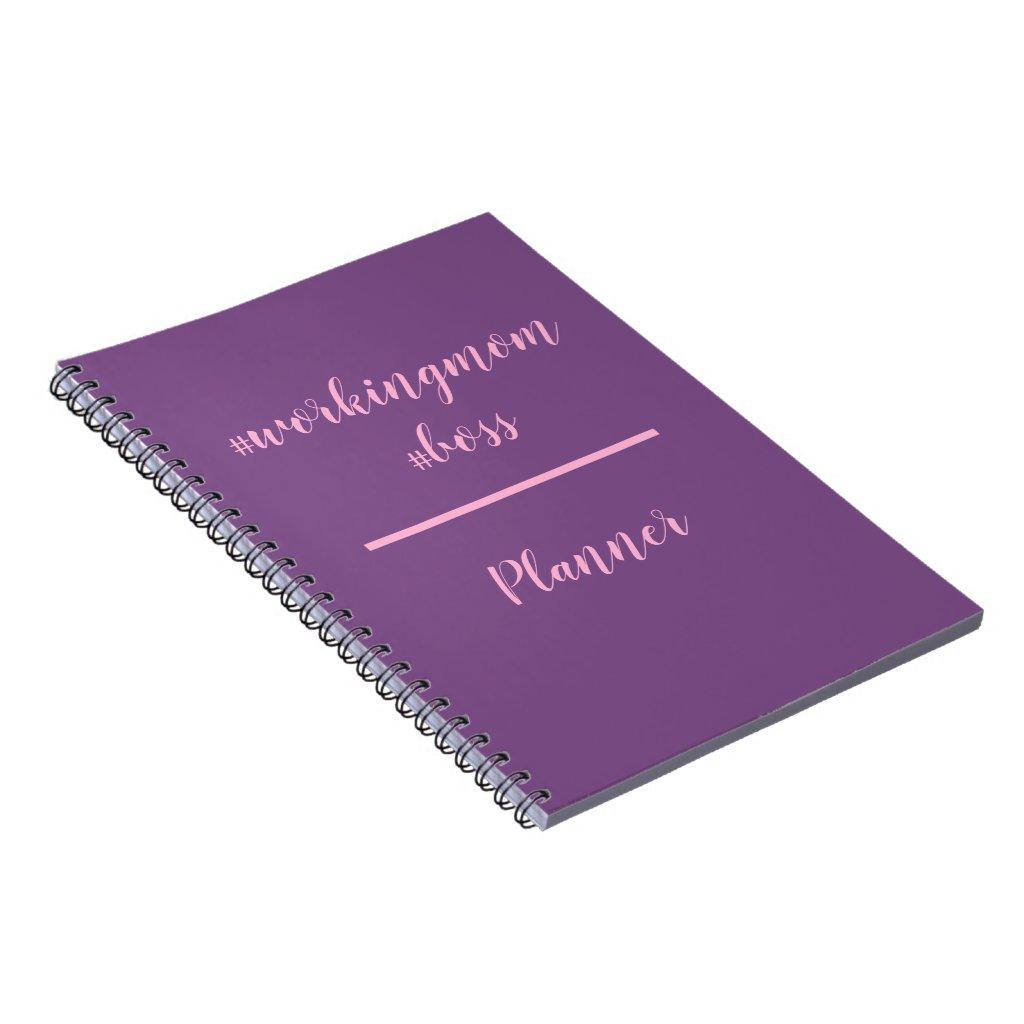 Workingmom Boss Hashtag Planner Notebook