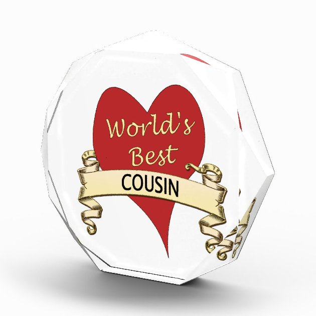World's Best Cousin Award Zazzle