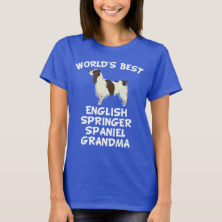 World's Best English Springer Spaniel Grandma T-Shirt