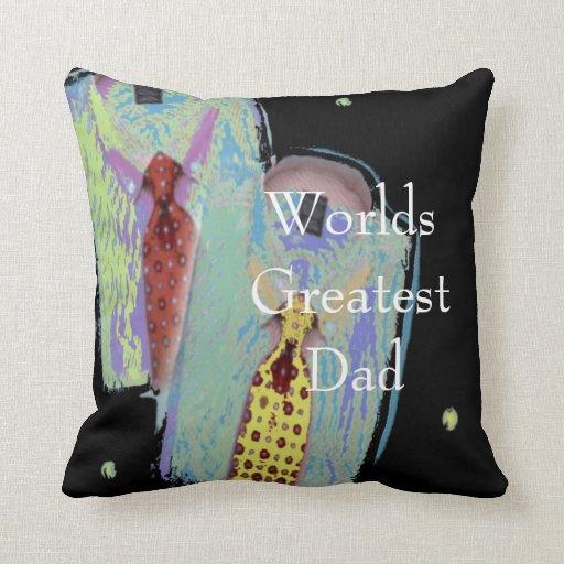 Worlds Greatest DAD Pillow | Zazzle