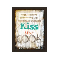 wrapped canvas kitchen wall art cute quote | Zazzle