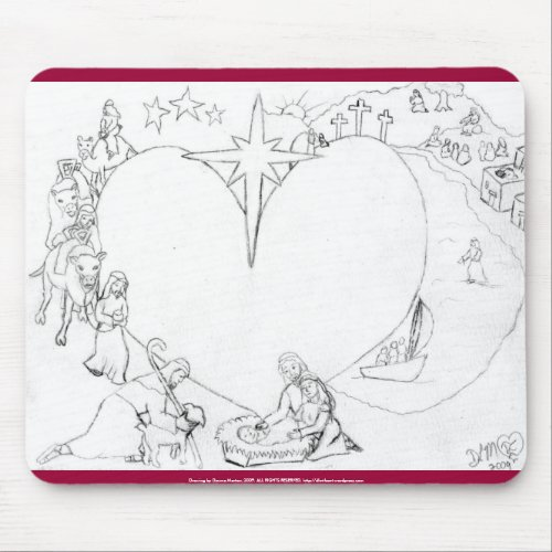 Wrapped in the arms of His Love mousepad