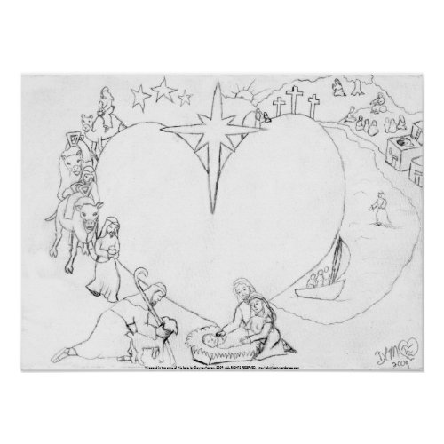 Wrapped in the arms of His Love print
