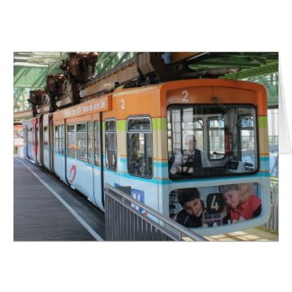 Wuppertal Floating Train / Wuppertaler Schwebebahn Greeting Cards