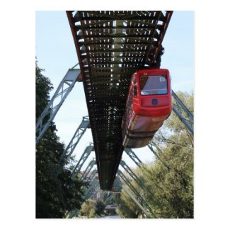 Wuppertal Floating Train / Wuppertaler Schwebebahn Post Card
